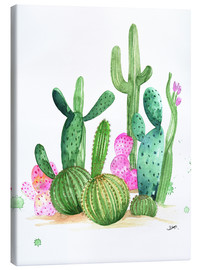 Canvas print  Cactus watercolor - Rongrong DeVoe