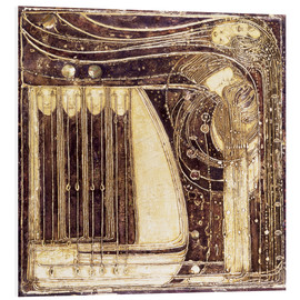 Foam board print  The Opera of the Sea - Margaret MacDonald Mackintosh