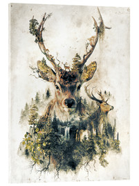 Acrylic print  Deer nature, surrealism - Barrett Biggers