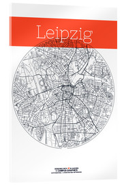Acrylic print  Leipzig map circle - campus graphics