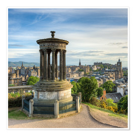 Premium poster  Edinburgh Scotland View from Calton Hill - Michael Valjak