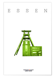 Premium poster  Essen City Colliery Zollverein - campus graphics