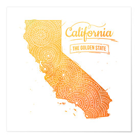 Premium poster  california - Stephanie Wittenburg