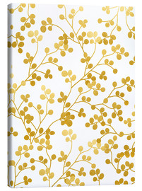 Canvas print  Golden vines - Uma 83 Oranges