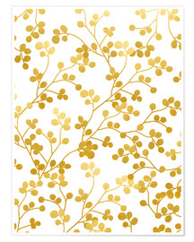 Premium poster  Golden vines - Uma 83 Oranges