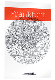 Acrylic print  Frankfurt map circle - campus graphics