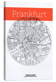 Canvas print  Frankfurt map circle - campus graphics