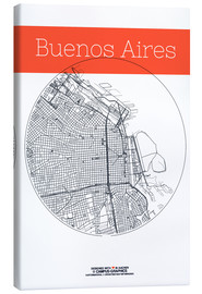 Canvas print  Buenos Aires circle - campus graphics