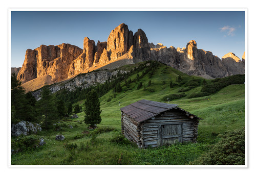 Premium poster Sunrise in the Dolomites