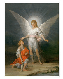 Premium poster Tobias and the Angel