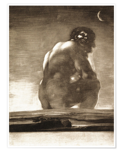 Premium poster A Giant Seated in a Landscape, The Colossus