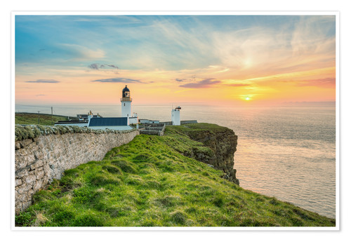 Premium poster Sunset at Dunnet Head in Scotland