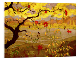Acrylic print  Apple Tree with Red Fruit - Paul Ranson