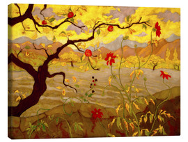 Canvas print  Apple Tree with Red Fruit - Paul Ranson