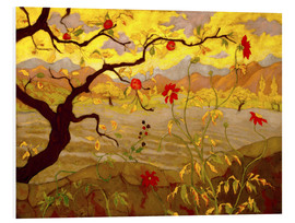 Foam board print  Apple Tree with Red Fruit - Paul Ranson