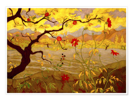 Premium poster  Apple Tree with Red Fruit - Paul Ranson