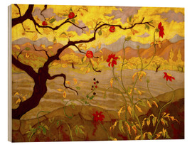 Wood  Apple Tree with Red Fruit - Paul Ranson