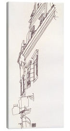 Canvas print  Facade of a town house - Egon Schiele