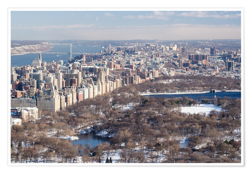Premium poster Central Park New York in winter
