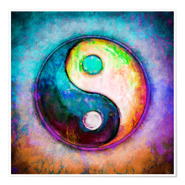 Premium poster Yin Yang - Colorful Painting 5