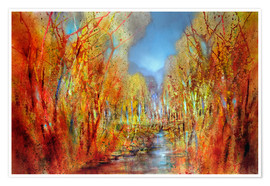 Premium poster The forests colorful
