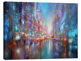 Canvas print  the blue city - Annette Schmucker