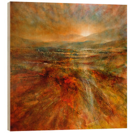 Wood print  sunrise - Annette Schmucker