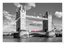 Premium poster London, Tower Bridge Black and White