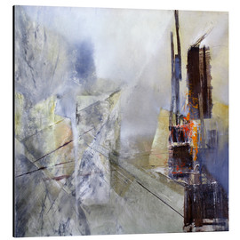 Aluminium print  Abstract composition in white - Annette Schmucker