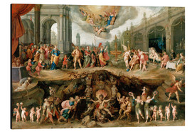 Aluminium print  Mankind's Eternal Dilemma - The Choice Between Virtue and Vice - Frans Francken II