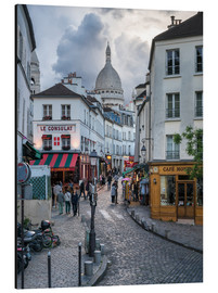 Aluminium print  Streets of Montmartre and Sacre Coeur - Jan Christopher Becke