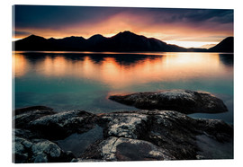 Acrylic print  Sunset at lake Walchensee - Martin Wasilewski