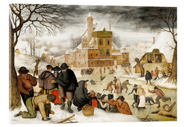 Acrylic print  Winterlandscape with skaters - Pieter Brueghel d.Ä.