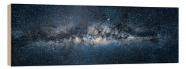 Wood print  Milky way panorama - Jan Christopher Becke