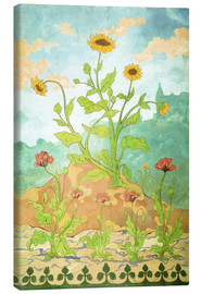 Canvas print  Sunflowers and Poppies - Paul Ranson