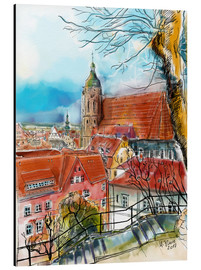 Aluminium print  Pirna, View to the Church of St. Mary - Hartmut Buse