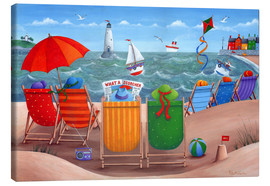 Canvas print  Beach scene - Peter Adderley