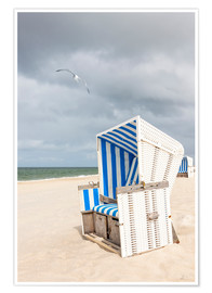 Premium poster  Seagull and beach chair, Sylt