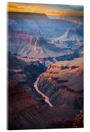 Acrylic print  Amazing Sunrise at the Grand Canyon