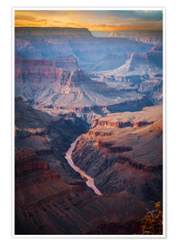 Premium poster  Amazing Sunrise of the Grand Canyon