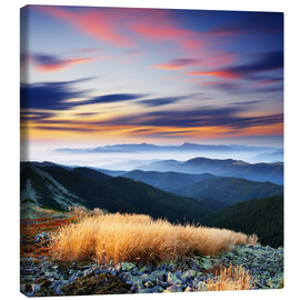 Canvas print  colored horizon