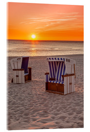 Acrylic print  Sunset at the Baltic Sea Beach