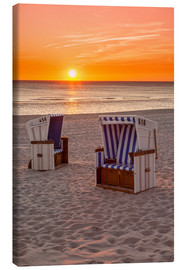 Canvas print  Sunset at the Baltic Sea Beach