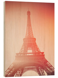 Wood print  Paris, my love