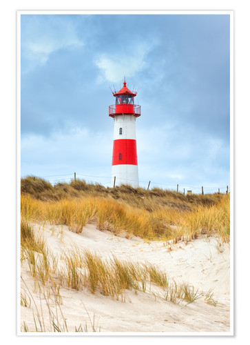 Premium poster Lighthouse in the east of the peninsula, Ellenbogen
