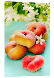 Acrylic glass  Summer peaches - K&L Food Style
