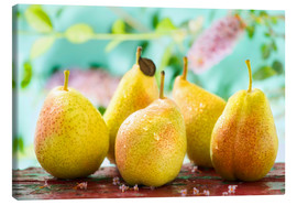 Canvas print  Five pears - K&L Food Style