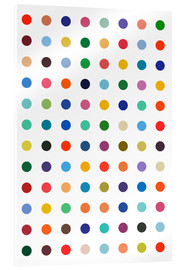 Acrylic print  Damien Tribute - Colourful polkadots - THE USUAL DESIGNERS
