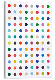 Canvas print  Damien Tribute - Colourful polkadots - THE USUAL DESIGNERS
