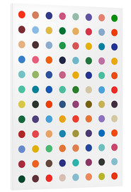 Foam board print  Damien Tribute - Colourful polkadots - THE USUAL DESIGNERS